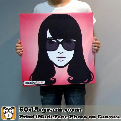 SOdA-gram.com Print #iMadeFace Photo on Canvas.