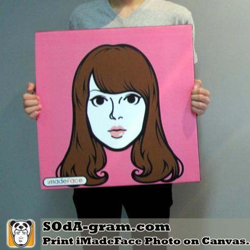 SOdA-gram.com Print #iMadeFace Photo on Canvas.