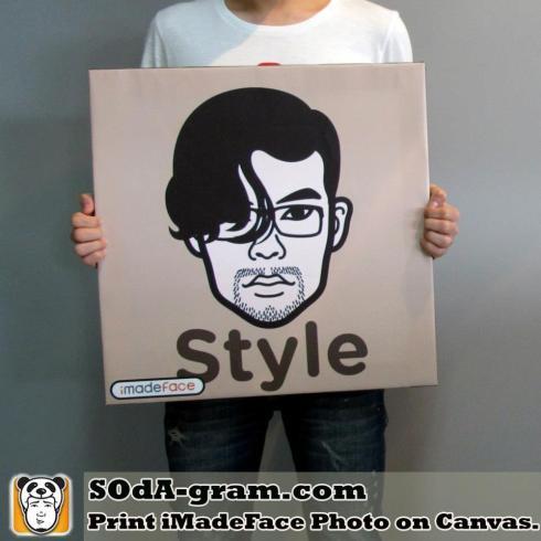 SOdA-gram.com Print #iMadeFace Photo on Canvas