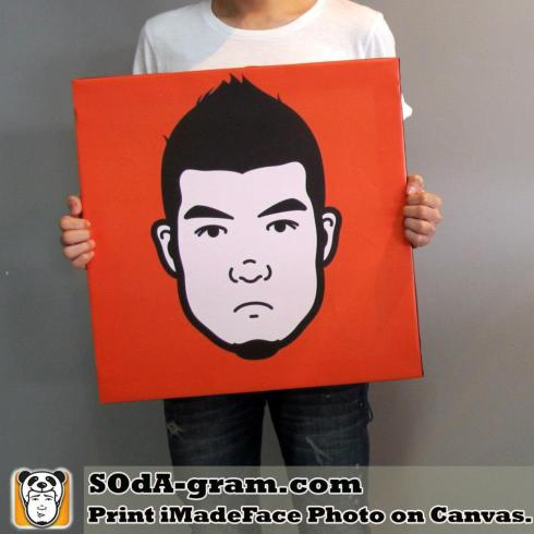 SOdA-gram.com Print iMadeFace Photo on Canvas